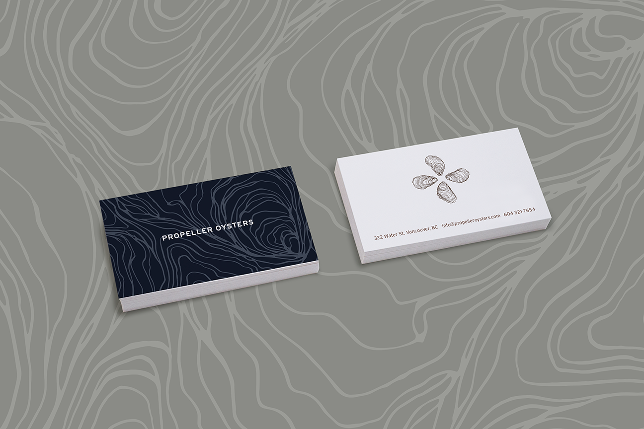 Propeller Oysters Business Cards