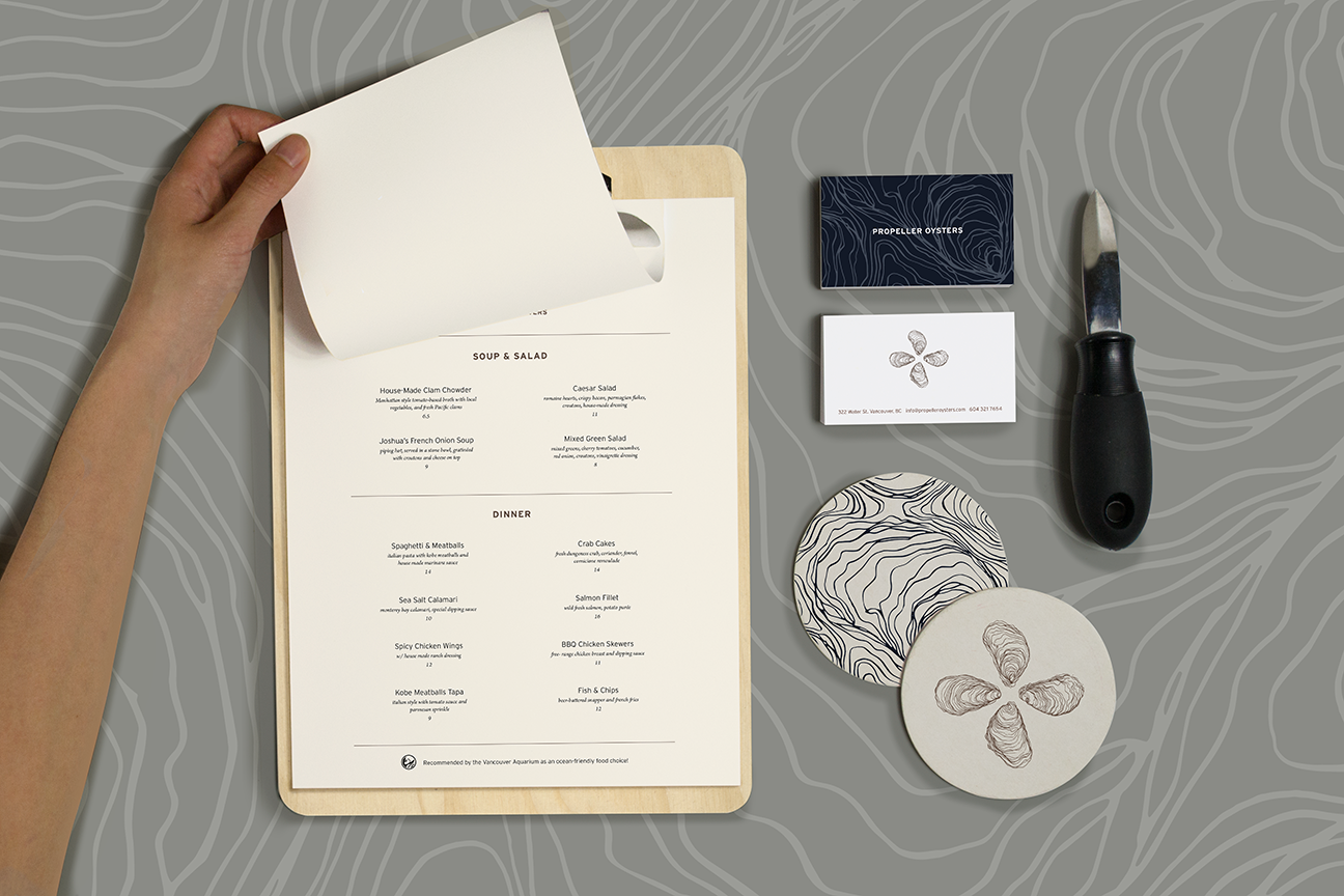Propeller Oysters Stationery