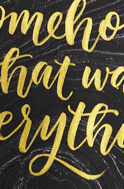 Lettering for Friends